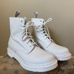 US Size 8 Doc Marten 1460 Pascal White Mono Boot